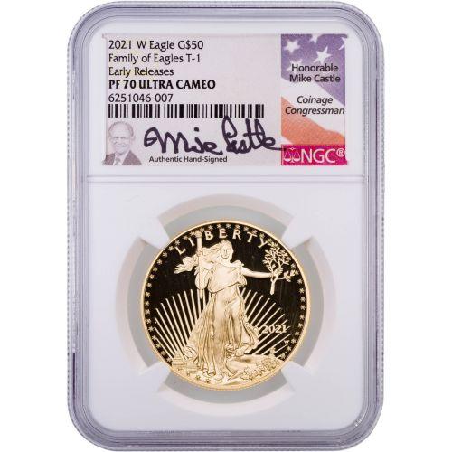 $50 2021-W 1oz Type 1 American Gold Eagle PCGS PF70UCAM