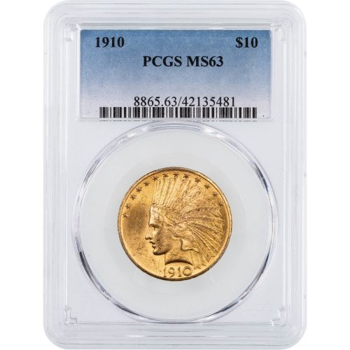 1910-P Indian Head Gold Eagle NGC/PCGS MS63