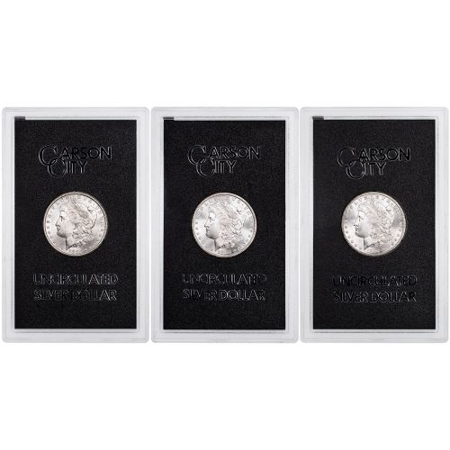 Set of 3: 1882-CC - 1884-CC GSA Morgan Dollar Brilliant Uncirculated includes GSA Certificate