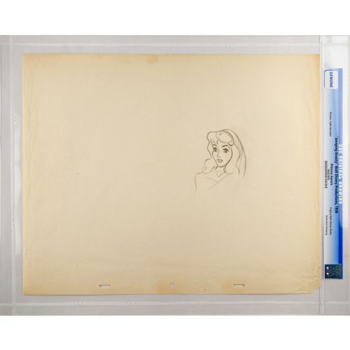"Disney's ""Sleeping Beauty"" Original Production Drawing of Briar Rose G"