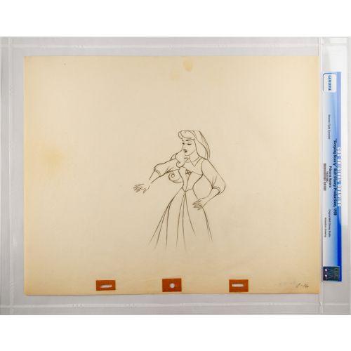 "Disney's ""Sleeping Beauty"" Original Production Drawing of Briar Rose I"
