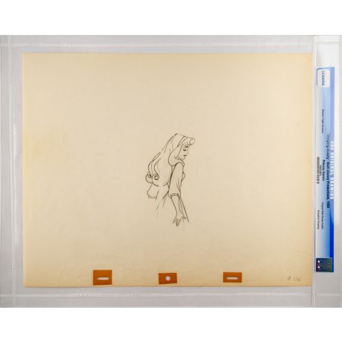 "Disney's ""Sleeping Beauty"" Original Production Drawing of Briar Rose J"