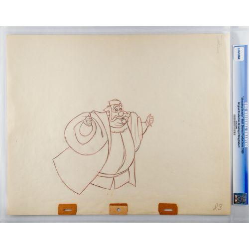 "Disney`s ""Sleeping Beauty"" Original Drawing of King Hubert"