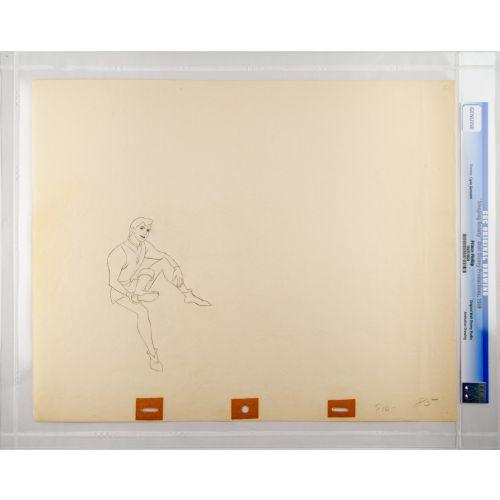 "Disney's ""Sleeping Beauty"" Original Production Drawing of Prince Phillip D"