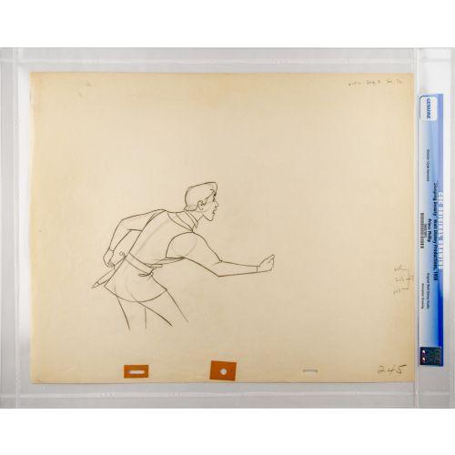 "Disney's ""Sleeping Beauty"" Original Production Drawing of Prince Phillip G"