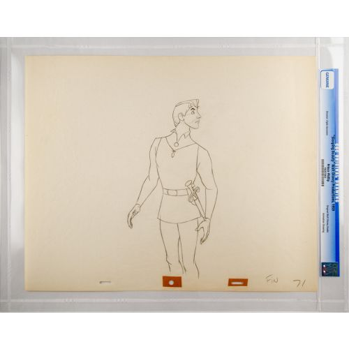 "Disney's ""Sleeping Beauty"" Original Production Drawing of Prince Phillip H"