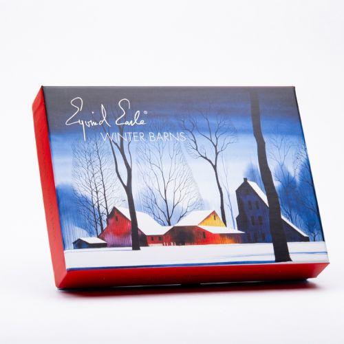 Eyvind Earle Greeting Cards: Winter Barnes