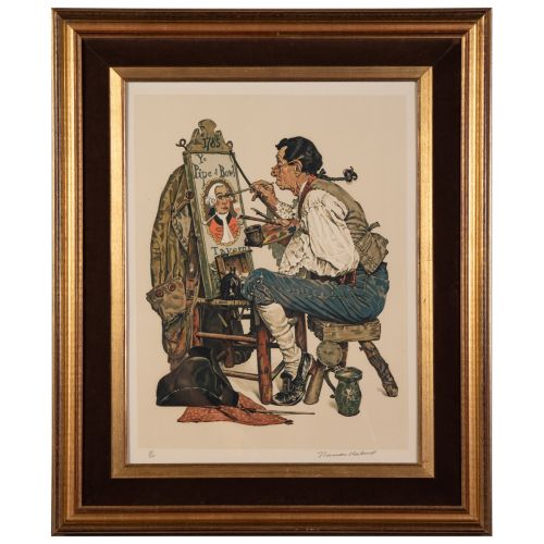 "Norman Rockwell, ""Pipe and Bowl"""