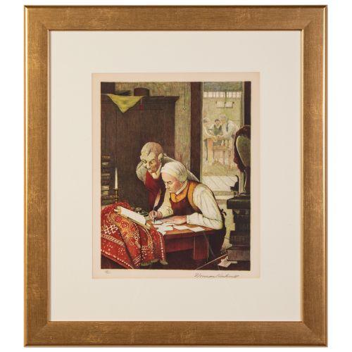 "Norman Rockwell, ""Ye Olde Print Shoppe"""