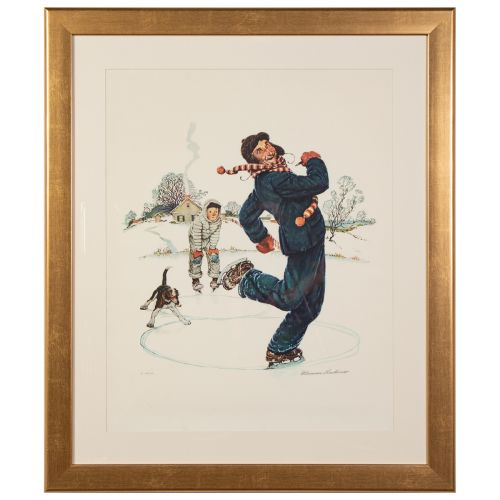 "Norman Rockwell, ""Grandpa and Me Suite: Ice Skating"""