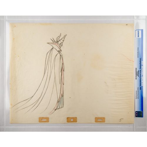 "Disney's ""Sleeping Beauty"" Original Production Drawing of Maleficent B"