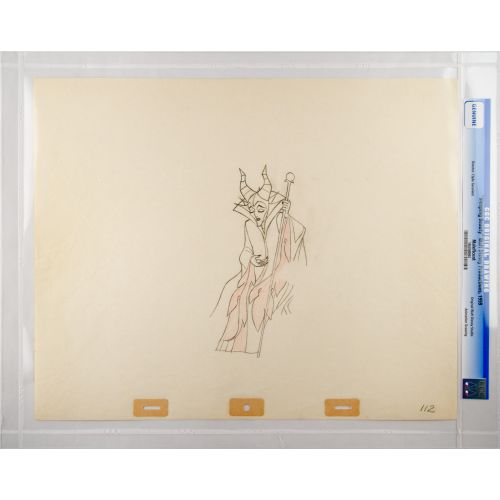 "Disney's ""Sleeping Beauty"" Original Production Drawing of Maleficent C"