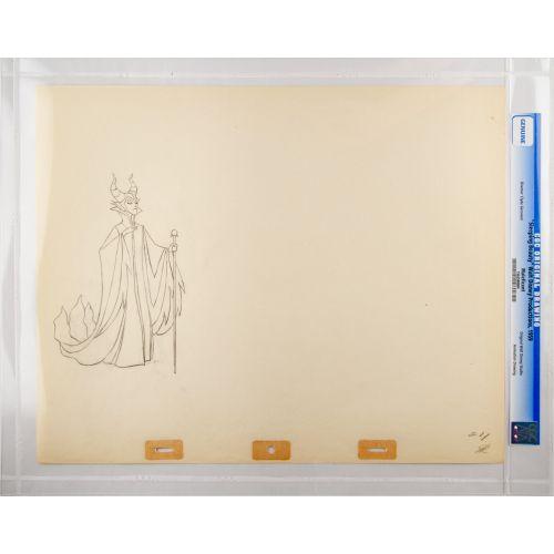 "Disney's ""Sleeping Beauty"" Original Production Drawing of Maleficent D"
