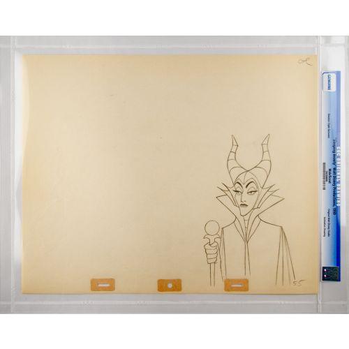 "Disney's ""Sleeping Beauty"" Original Production Drawing of Maleficent E"