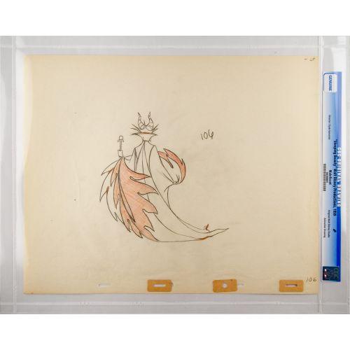 "Disney's ""Sleeping Beauty"" Original Production Drawing of Maleficent F"
