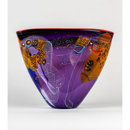 "Wes Hunting, ""Colorfield Vessel with Lilac Interior"""