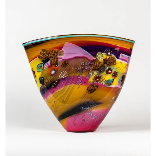 "Wes Hunting, ""Colorfield Vessel with Lavender Interior"""