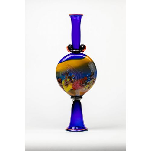 "Wes Hunting, ""Colorfield Amphora in Egyptian Blue"""