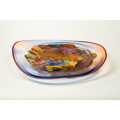 "Wes Hunting, ""Colorfield Platter in Poppy"""