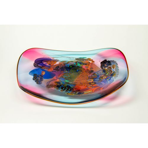 "Wes Hunting, ""Colorfield Platter in Marigold"""