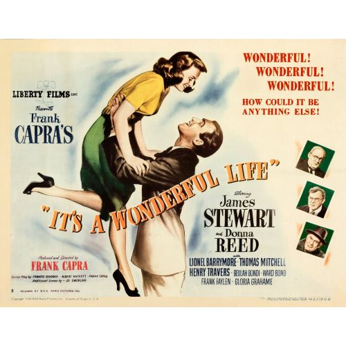 """""""It's a Wonderful Life"""" 1946 Movie Poster on Paper"""