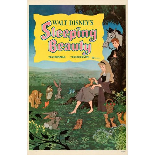 """""""Sleeping Beauty"""" 1959 Movie Poster on Linen"""