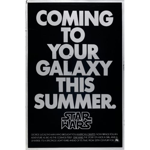 """Star Wars"" 1977 Advance Rolled Mylar One Sheet Poster Very Fine- 41 x 27"