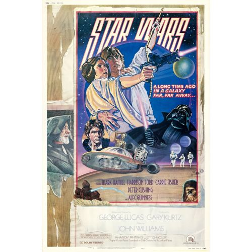 """""""Star Wars"""" 1978 Style D Rolled Poster Very Fine-"""