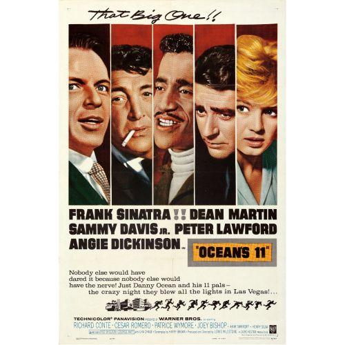 """Warner Bros., """"Ocean's 11"""" 1960 Folded One Sheet, Very Fine, Unframed, 27 x 41"""