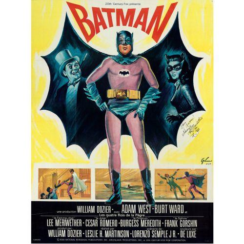 """Boris Grinsson, """"Batman"""" w/Lee Meriwether Autograph, 1967 - 45.5"""" X 61.5"""""""