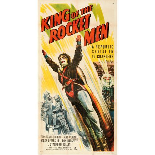 "Republic Studios, ""King of the Rocket Men"" 1949 Folded (41"" X 80"")"