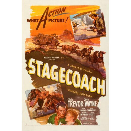 "United Artists, ""Stagecoach"" 1944 One Sheet on Linen, Fine-, Unframed, 27 x 41"