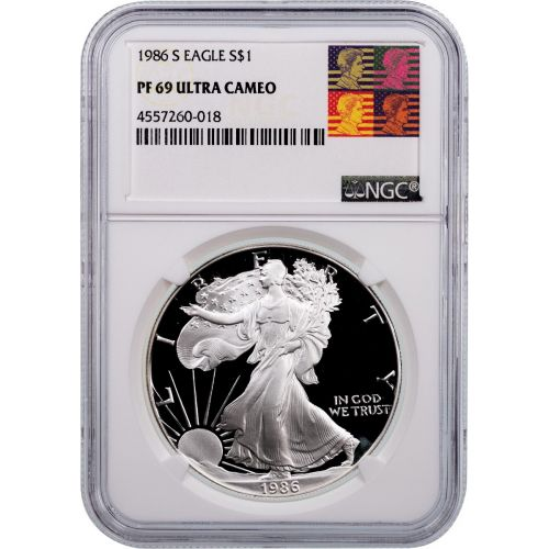 1986-S American Silver Eagle NGC PF69 UCAM