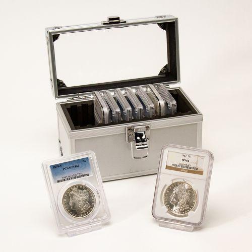 Set of 9: 1879-1887 Morgan Dollars MS66