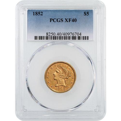 1852-P Liberty Head Gold Half Eagle NGC/PCGS XF40