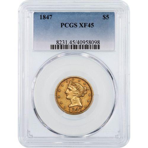 1847-P Gold Liberty Half Eagle NGC/PCGS XF45
