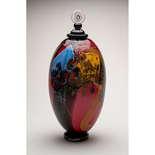 """Wes Hunting, """"Colorfield Jar in Flush"""""""