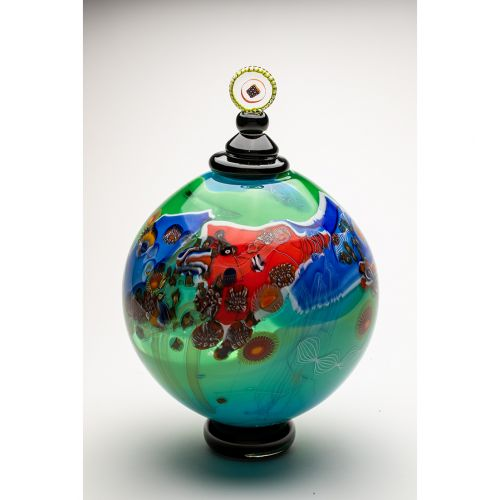 "Wes Hunting, ""Colorfield Jar in Aqua"""