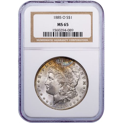1885-O Morgan Dollar MS65 Toned