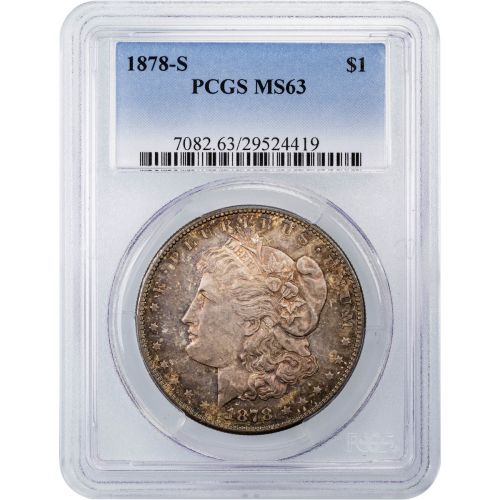 1878-S Morgan Dollar MS63 Toned
