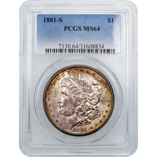 1881-S Morgan Dollar MS64 Toned