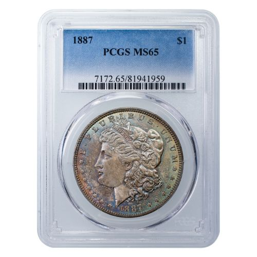 1887-P Morgan Dollar MS65 Toned