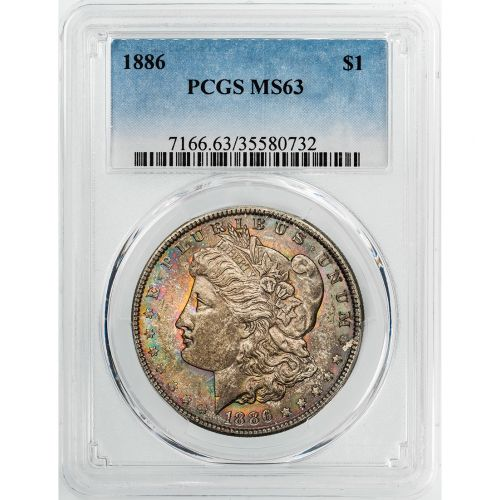 1886-P Morgan Dollar MS63 Toned