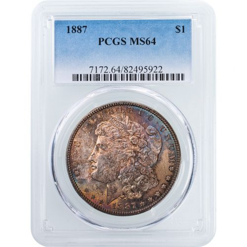 1887-P Morgan Dollar MS64 Toned