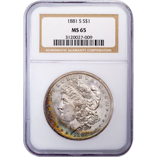 1881-S Morgan Dollar MS65 Toned