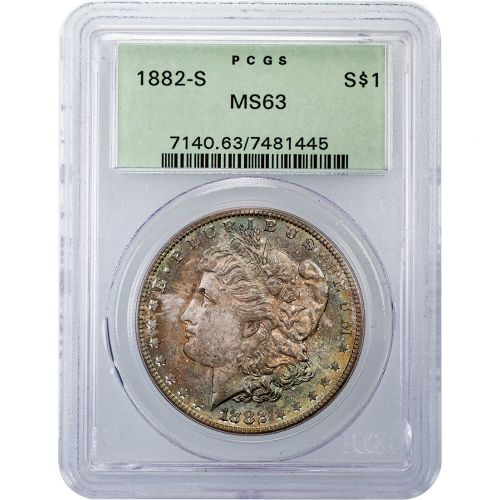 1882-S Morgan Dollar MS63 Toned