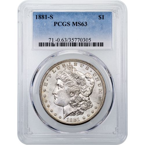 1881-S Morgan Dollar MS63 Toned