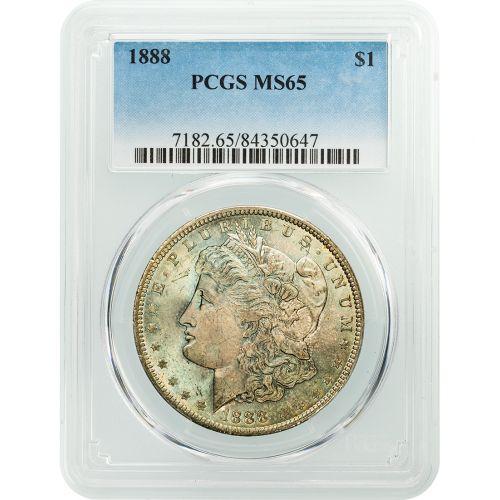 1888-P Morgan Dollar MS65 Toned
