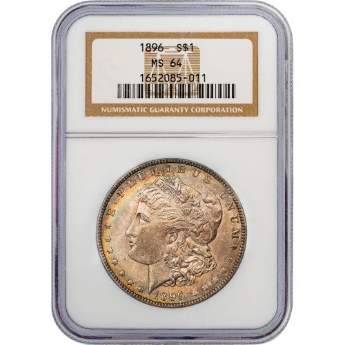 1896 Morgan Dollar NGC MS64 Toned
