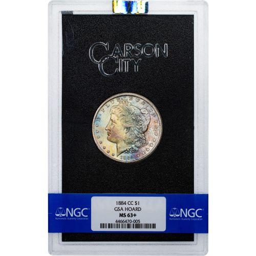 1884-CC GSA Morgan Dollar NGC MS63+ Toned